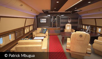 Boeing 747 Aircraft Interior by Patrick Mbugua